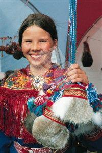 Saami girl, Sweden