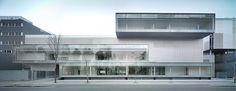 Building of Institute of Advance Technics in Medicine . Healthcare Architecture, Modern Architecture Design, Spanish Architecture, Architecture Images, Architecture Awards, Healthcare Design, Facade Architecture, School Architecture, Archi Design