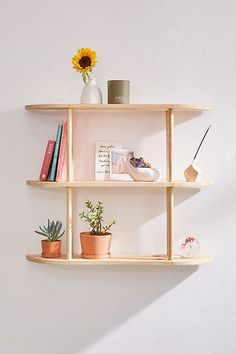 Louie Tri-Tiered Wooden Wall Shelf