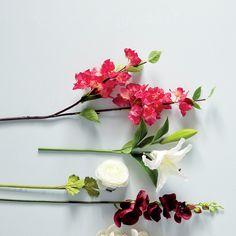 Faux Bougainvillea Stem - Pink