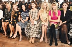 The Most Memorable Fashion Week Front Rows Ever via @WhoWhatWear