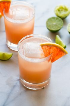 Fizzy Grapefruit Margaritas. SO refreshing!