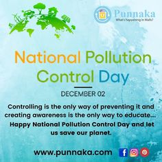 Controlling is the only way of preventing it and creating awareness is the only way to educate…. Happy National Pollution Control Day and let us save our planet. #punnaka #punarie #airpollution #pollution #environment #climatechange #saveearth #savewater #smartpeople #rainwaterharvesting #cleanair #airpollutionawareness #airpollutioncontrol #climate #delhipollution #plasticpollution #reuse