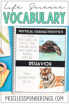 Your class will learn about animal characteristics with these fun hands on vocabulary activities perfect for your life science class. Click the picture to learn more! Vocabulary Activities, Science Resources, Fun Activities, Second Grade Science, Early Finishers, Interactive Notebooks, Life Science, Lesson Plans, Worksheets