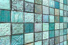 BuildDirect – Wall Paneling - Decorative Print Collection – Aquatica Tile - Angle View