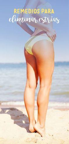 Las estrías son defectos de la piel que se manifiestan como líneas blancas que se producen por crecimiento, aumentos bruscos de peso o enfermedades relacionadas con los niveles hormonales. Las estrías suelen localizarse en el abdomen, las caderas, las pompas, los muslos o el busto; para que puedas minimizarlas, te comparto mis remedios para eliminar estrías.