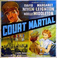 Court Martial (1954) Carrington V.C. (original title) Stars: David Niven, Margaret Leighton, Noelle Middleton, Allan Cuthbertson ~ (Nominated for 5 BAFTA Film Awards)