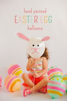 Hand Painted Easter Egg Balloons | Stevie Pattyn for The Shop Sweet Lulu Blog #easter #eggs #balloons