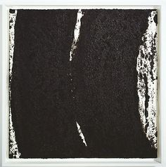RICHARD SERRA Tracks #52, 2008 Paintstick on handmade paper 40 x 40 inches (101.6 x 101.6 cm)