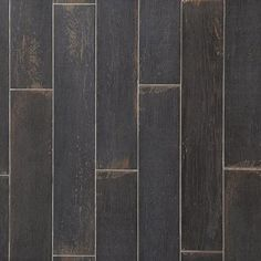 Wood Art Midnight Wood Plank Porcelain Tile - 6 x 33 - 100434539 Painted Wood Floors, Wood Tile Floors, Wood Look Tile, Wood Planks, Vinyl Flooring, Grey Wood, Black Wood, Polished Porcelain Tiles, Black Tiles