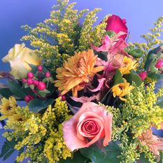 vase of three fall roses, and other fall accent flowers New Boston, Local Florist, Custom Greeting Cards, Fresh Flowers, Floral Wedding, Floral Arrangements, Floral Wreath, Roses, Wreaths