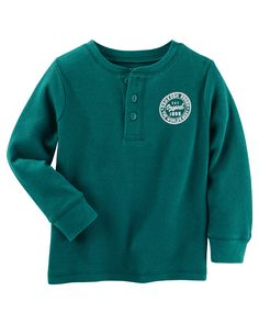 Baby Boy Thermal Logo Henley from OshKosh B'gosh. Shop clothing & accessories from a trusted name in kids, toddlers, and baby clothes.
