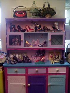 Irregular Choice stockist Painted my Welsh dresser, quirky to match my shoes!!