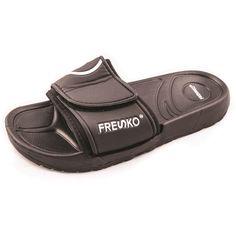 c46da083eaf34 Men s Slide SandalsThese men s shoes come in 3 assorted colors.Colors Navy  Black Dark GreySizes