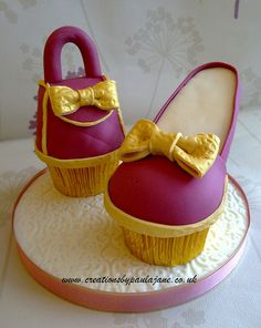 Cupcake Shoe & Bag by Creations By Paula Jane...I love this!