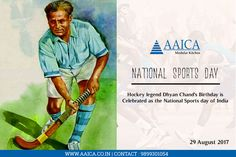 The National Sports Day marks the birthday of #DhyanChand, the hockey player who won gold medals in #Olympics for India in the years 1928,1932 and 1936.