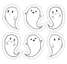 """"""" Stickers by Halloween Doodle, Halloween Drawings, Halloween Stickers, Cute Halloween, Halloween 2020, Halloween Halloween, Anime Stickers, Tumblr Stickers, Laptop Stickers"""
