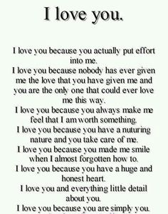 I love you essay for her