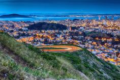 Twin Peaks, San Francisco, California — by Alex Sam. This is a nice vista point to view San Francisco city both at sunrise and sunset and of course the city light , enjoy!