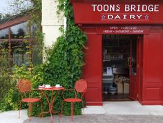 Toonsbridge Dairy Cafe - where they sell their very own Buffalo mozzarella, cheeses & meat Tacky Tourists, Buffalo Mozzarella, Cork Ireland, Ireland Vacation, Irish Recipes, Oh The Places You'll Go, Bridge, Coffee Shop, How To Memorize Things