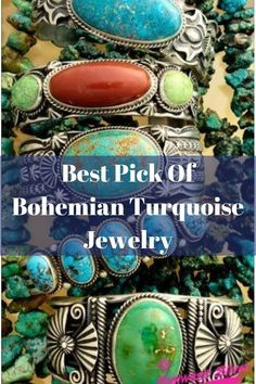 Turquoise has that ability to recharge our spirits. Somehow it reminds you of blue skies, tropical seas. Check out my Best pick of Bohemian Turquoise Jewelry! Moon Jewelry, Western Jewelry, Blue Skies, Hippie Jewelry, Seas, Turquoise Jewelry, Gifts For Family, Tropical, Boho Chic
