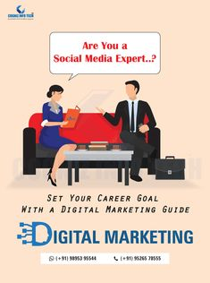 Are you a social media expert. Set your career goal with a digital marketing guide. Marketing Training, Career Goals, Kochi, Digital Marketing, Social Media, Social Networks, Social Media Tips