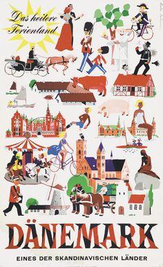 Denmark #tourism #poster (1951)