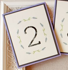 Wedding Reception Table Numbers Lavender by SunshineandRavioli