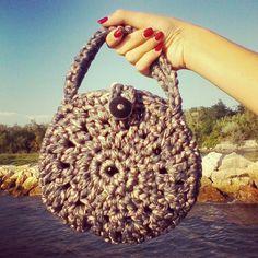 Birthday present fettuccia bag crochet