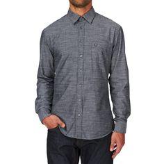 Men's Surfdome Shirts - Surfdome Raze Long Sleeve Shirt - Anthracite