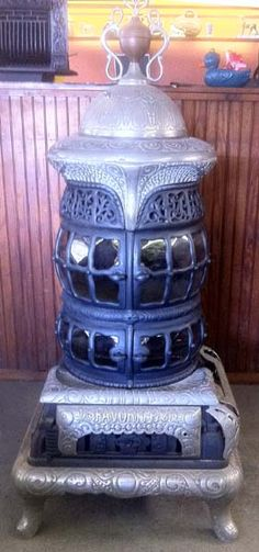 Oh yes, someday.  Antique baseburner parlour stove.