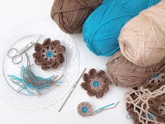 Autumn crochet projects in process...