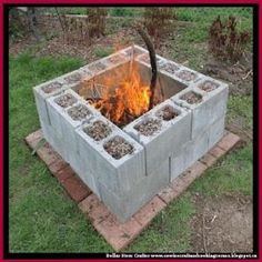 Turn Cinder Blocks Into A Fire Pit by Dollar Store Crafter