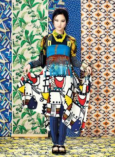 Prints trends in fashion web editorial