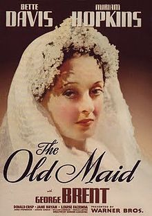 Author: Edith Wharton. Bette Davis, Miriam Hopkins, George Brent. Director: Edmund Goulding. IMDB: 7.8 ______________________________ http://en.wikipedia.org/wiki/The_Old_Maid_%281939_film%29 http://www.rottentomatoes.com/m/old_maid/?search=The%20Old%20Maid http://www.tcm.com/tcmdb/title/353/The-Old-Maid/ Article: http://www.tcm.com/tcmdb/title/353/The-Old-Maid/articles.html http://www.allmovie.com/movie/the-old-maid-v36139