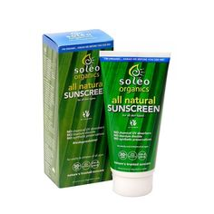 Soleo Organic Sunscreen SPF30+ - 80g or 150g