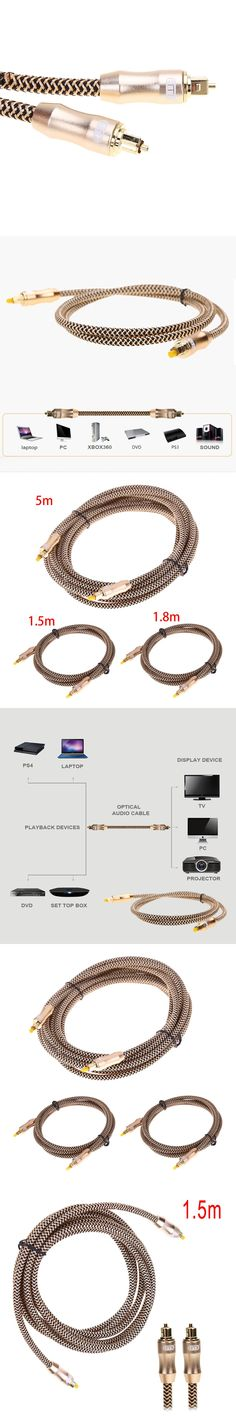 1.5m/1.8m/5m OD6.0mm Male to Male Toslink Cable Digital Optical Audio Cable Fiber Optical Cable Gold Snake Series For TV DVD