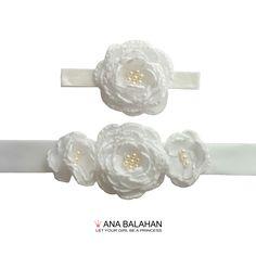 RANUNCULUS - sash and headpiece set Great for bridal, bridesmaids, flower girls, pregnant ladies. 16 beautiful colors for your choice. #flowergirl #flowergirlsash #sash #flowerbelt
