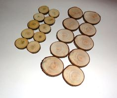 Wood slices set 10 small and 10 medium wood discs. by NayasArt