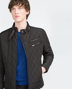 Image 2 of QUILTED BIKER JACKET from Zara