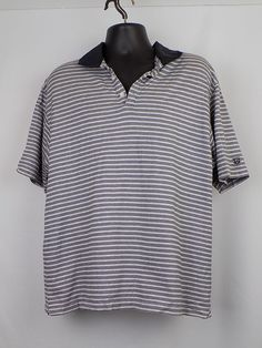 f6a89a598f Nike Golf Men Golf Shirt Size L Gray w  Black stripes  NikeGolf  Golf