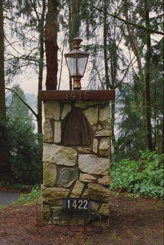 flagstone mailbox