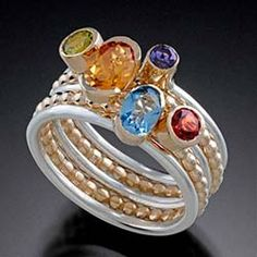 Don Pekarek Stacking Rings - Northern Lights Gallery - Fine Art, Jewelry, Accents - Racine, WI