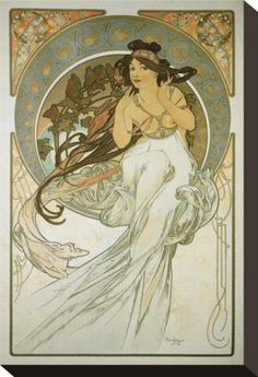 The Arts: La Musique Stampa trasferimenti su tela di Alphonse Mucha su AllPosters.it