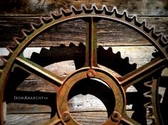 Large Decorative Antique Iron Gear from IronAnarchy.com