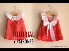 Aprender a coser: Vestido para niñas (patrones gratis tallas 1 a 7 años) – Fashion Trends 2020 Modadiaria 每日时尚趋势 2020 时尚 Frock Patterns, Baby Girl Dress Patterns, Little Girl Dresses, Sewing Baby Clothes, Baby Sewing, Diy Clothes, Baby Outfits, Kids Outfits, Sewing For Kids