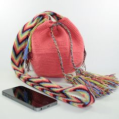 Price from 28 USD Mochila Wayuu hand woven and hand crocheted in Colombia, shoulder, crossbody bag, pouch