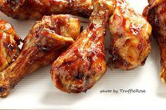 黏踢踢的脆皮烤雞腿-20130306 by TruffleRose, via Flickr 果醬