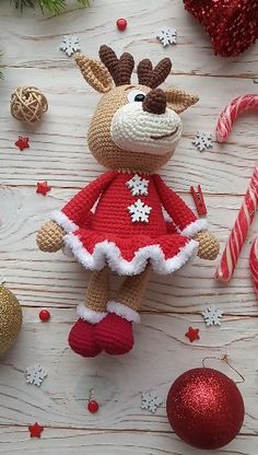 HELA'S – Amigurumi Girl reindeer crochet pattern Crochet Christmas Decorations, Christmas Crochet Patterns, Crochet Patterns Amigurumi, Christmas Crafts, Crocheting Patterns, Xmas, Crochet Amigurumi, Crochet Dolls, Crochet Baby