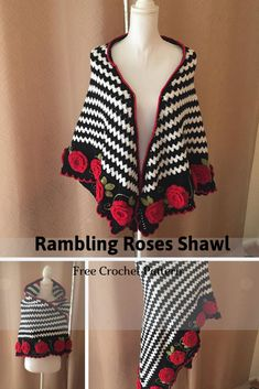 This Romantic Crochet Shawl Is A Story Of Love Perfect For Valentines Day - Knit And Crochet Daily Crochet Shawl Free, Crochet Shawls And Wraps, Crochet Cardigan, Knit Crochet, Shawl Patterns, Crochet Patterns, Crochet Crafts, Crochet Projects, Crochet Clothes